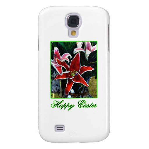 Happy Easter o Green Tiger Lily The MUSEUM Zazzle Samsung Galaxy S4 Covers