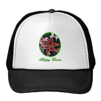 Happy Easter o Green Tiger Lily The MUSEUM Zazzle Trucker Hat