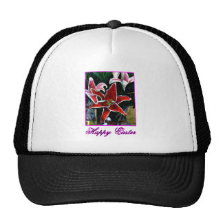 Happy Easter o Magenta Tiger Lily The MUSEUM Zazzl Trucker Hat