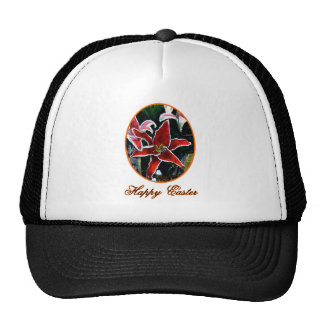Happy Easter o Orange Tiger Lily The MUSEUM Zazzle Trucker Hat