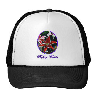 Happy Easter o Purple Tiger Lily The MUSEUM Zazzle Trucker Hat