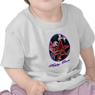 Happy Easter o Purple Tiger Lily The MUSEUM Zazzle Tshirt