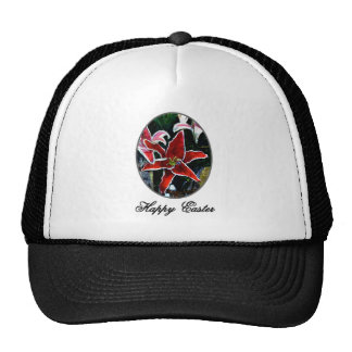 Happy Easter o Silver Tiger Lily The MUSEUM Zazzle Trucker Hat