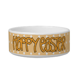Happy Easter orange  Bowl Pet Water Bowls