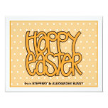 "Happy Easter orange flat Easter Note Card 4.25"" X 5.5"" Invitation Card"