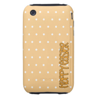 Happy Easter orange iPhone 3G 3GS Case-Mate Tough Tough iPhone 3 Covers