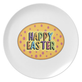 Happy Easter Oval Party Plate