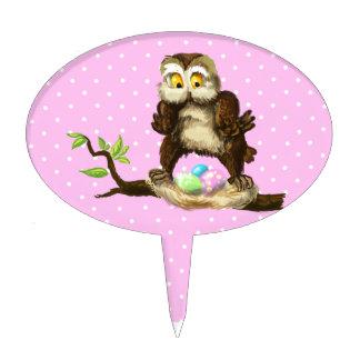 Happy Easter owl Cake Topper