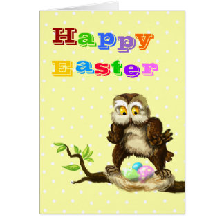 Happy Easter owl Card