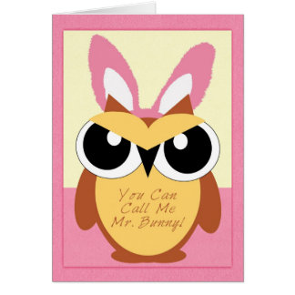 Happy Easter, Owl Greeting Card