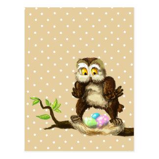 Happy Easter owl Postcard