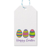 Happy Easter Painted Egg Hunt Eggs Gift Tags