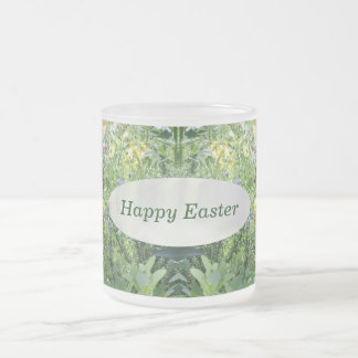 Happy Easter Pansy Garden Mug by Janz