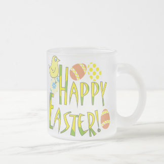 Happy Easter Pastel Eggs and Chick  Coffee Mugs