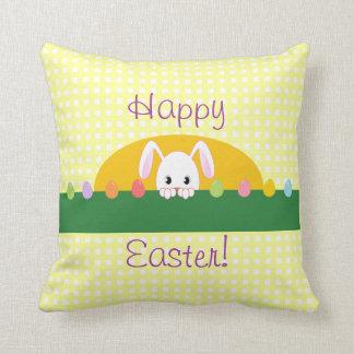 Happy Easter Peeking Bunny Decorative Pillow