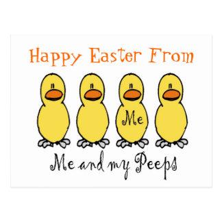 Happy Easter Peeps Postcard