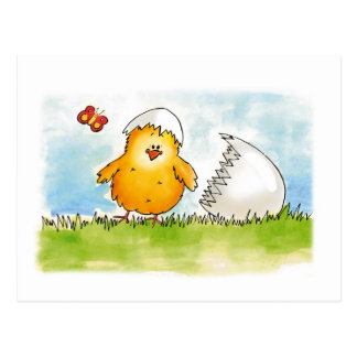Happy Easter- Personalize with name - Chick just h Postcard