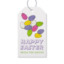 Happy Easter Personalized Egg Hunt Candy Eggs Gift Tags