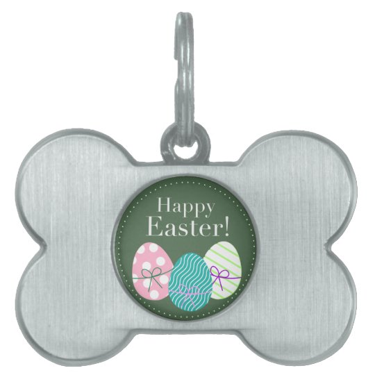 Happy Easter Pet Name Tag