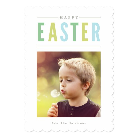 Happy Easter Photo Card Personalized