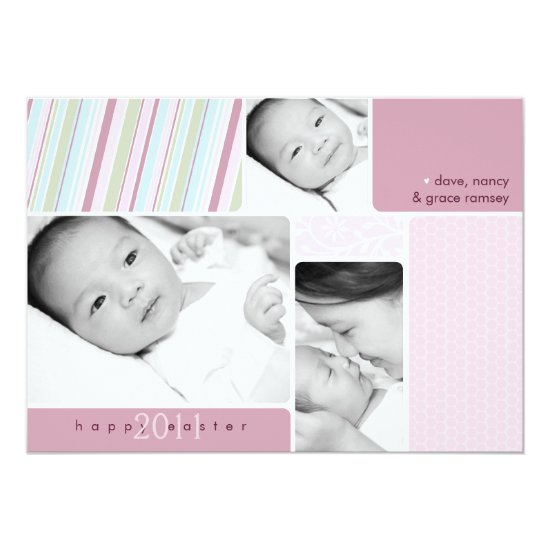 Happy Easter Photo Collage Card