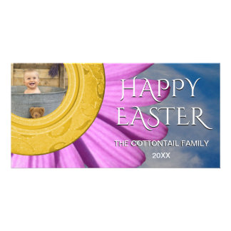 Happy Easter Photo | Daisy Spring Day Sky Card