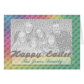 Happy Easter photo frame Greeting Card
