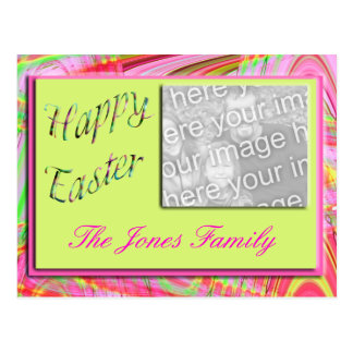Happy Easter photo frame Postcard