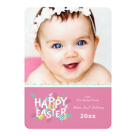 Happy Easter Photo Greeting Card