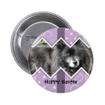 Happy Easter Photo-Paw Prints Button