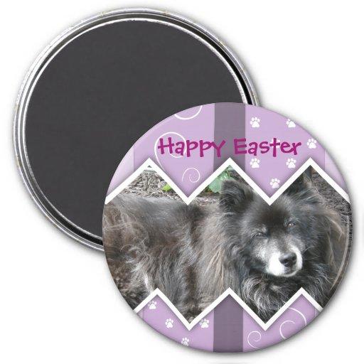 Happy Easter Photo-Paw Prints Fridge Magnet