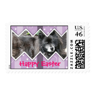 Happy Easter Photo-Paw Prints Postage