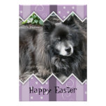 Happy Easter Photo-Paw Prints Poster