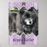 Happy Easter Photo-Paw Prints Print