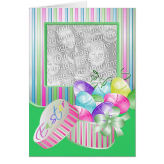 Happy Easter Photo Template Greeting Cards
