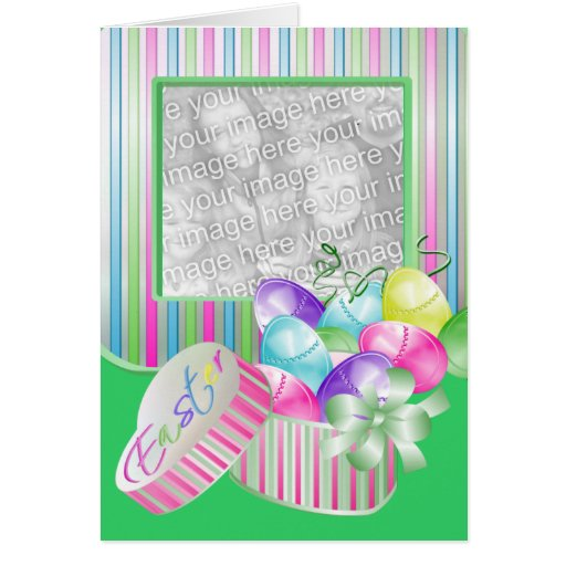 Happy Easter Photo Template Greeting Card