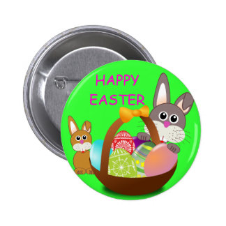 HAPPY EASTER PINBACK BUTTONS
