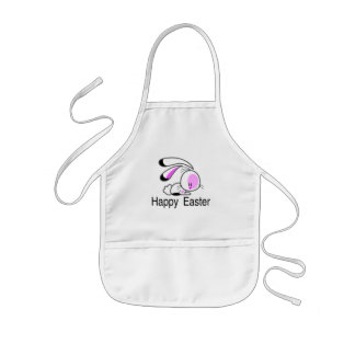 Happy Easter Pink Bunny Kids' Apron