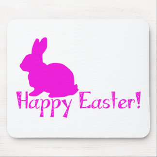 Happy Easter Pink Bunny Mouse Pad