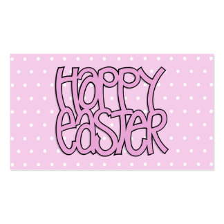 Happy Easter pink Business Card