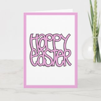 Happy Easter pink Card card