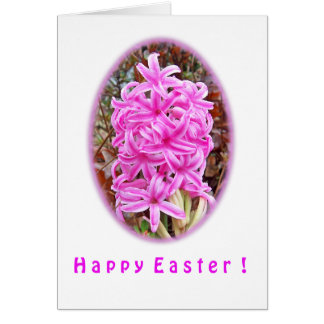 Happy Easter Pink Hyacinth Shirts & Gifts Card