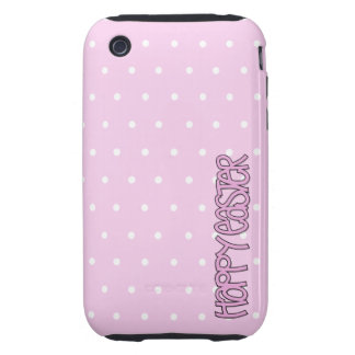 Happy Easter pink iPhone 3G/3GS Case-Mate Tough iPhone 3 Tough Covers