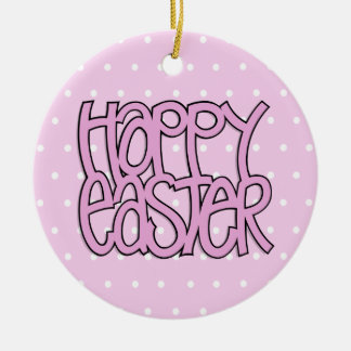 Happy Easter pink Ornament