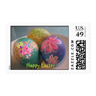 Happy Easter Pink Ribbon Postage