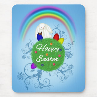 Happy Easter Planet - Mousepad