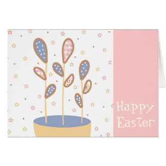 Happy Easter Plant Card