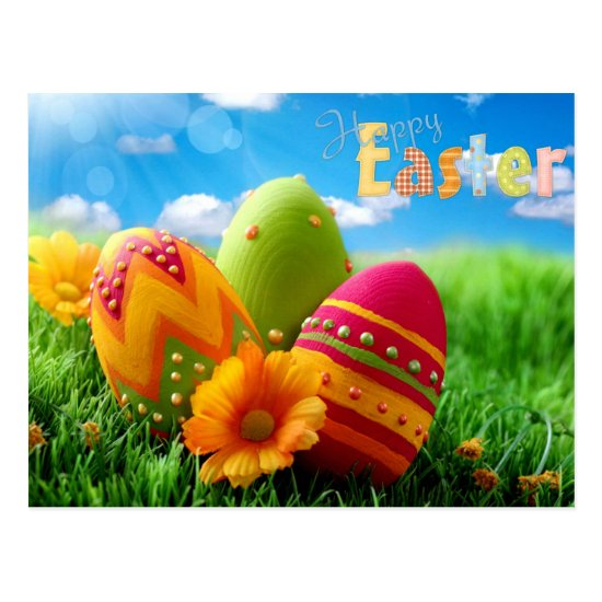 happy easter postcard
