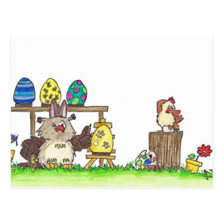 HAPPY EASTER postcard by Nicole Janes