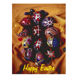 Happy Easter PostCard~Decorative Easter Eggs
